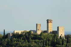 Castle of Montorio   Medieval Castle (X century on pre-existing Roman fortifications) was almost completely demlito null'800 by Austrian troops to house artillery.    Castello di Montorio by Teone!, via Flickr