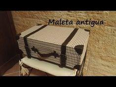 El rincón de las manualidades caseras.: Maleta antigua de cartón.