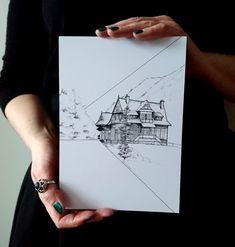 Morskie Oko illustration - Paskud -    #morskieoko #tatry #Mountainillustration #paskudtattoo ##sketch #sketchart #darkillustration #plakat #góry #gory #polskailustracja