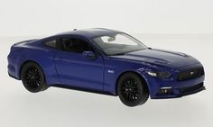 Ford Mustang GT 2015 blau 1:24 Welly