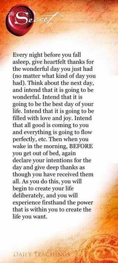 Be grateful and intend on having best day of your life.