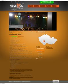 Design for SaXa music and video agency. www.saxa-brom.cz (this design was made in year 2011)
