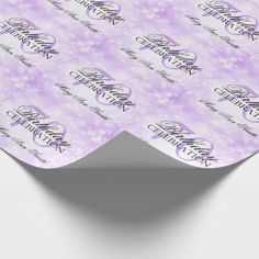 Purple Winter Wonderland 70th Birthday Party Wrapping Paper - diy cyo customize create your own personalize