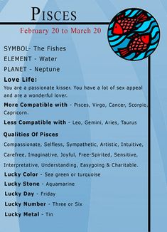 This is the only thing I've found that says Pisces and Virgo are a good match Pisces Traits, Pisces Love, Pisces Quotes, Zodiac Signs Pisces, Pisces Woman, Zodiac Signs Astrology, Zodiac Star Signs, Zodiac Sign Facts, Astrology Zodiac
