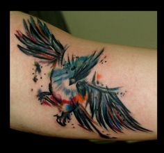 bird tattoo - Click image to find more tattoos Pinterest pins