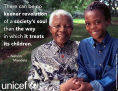 UNICEF joins millions of people around the world who mourn the loss of Nelson Mandela, former President of South Africa First Black President, Former President, Change The World, In This World, Nelson Mandela Day, Black Presidents, Nobel Peace Prize, Condolences, Worlds Of Fun