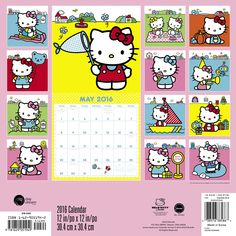 * Hello Kitty Wall Calendar (2016): Day Dream: 9781629051949: Amazon.com: Books