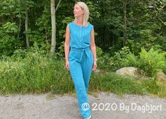 Jumping on the jumpsuit trend. – by dagbjort Three Boys, Short Legs, Pdf Sewing Patterns, Woven Fabric, Product Launch, Jumpsuit, Long Sleeve, Casual, How To Wear