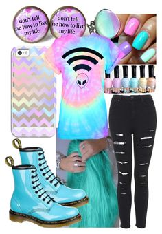 """""""Pastel Goth"""" by katzap ❤ liked on Polyvore featuring Casetify, Dr. Martens, women's clothing, women, female, woman, misses and juniors"""