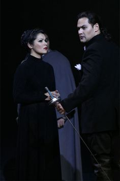 Ildar Abdrazakov as Don Giovanni and Anna Netrebko as Donna Anna in Don Giovanni (Mozart)