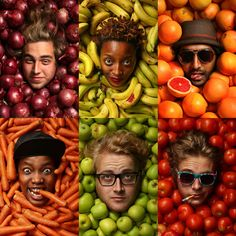 10 Advertising Modular Approach Photographs Fruits and Veggies