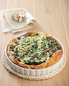 Spinach Cake, Savory Tart, Greek Recipes, Bon Appetit, Quiche, Food Porn, Food And Drink, Cooking Recipes, Breakfast