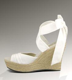 UGG® Lucianna for Women - White | Espadrille Wedge Sandals at UGGAustralia.com