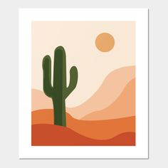 abstract desert and cactus art - Cactus Art - Posters and Art Prints Small Canvas Paintings, Easy Canvas Art, Small Canvas Art, Mini Canvas Art, Cute Paintings, Dorm Paintings, Diy Canvas, Canvas Art Prints, Posca Art
