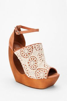 Jeffrey Campbell Rock Lace Wedge  #UrbanOutfitters ♥ these
