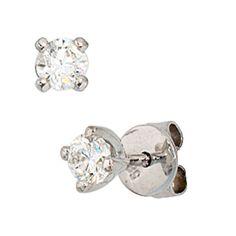 Damen-Stecker 2 Diamant-Brillanten 14 Karat (585) Weißgold 0.54 ct. Dreambase http://www.amazon.de/dp/B0097PE1DQ/?m=A37R2BYHN7XPNV