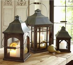 Love these laterns from Pottery barn Briarwood Lanterns #potterybarn
