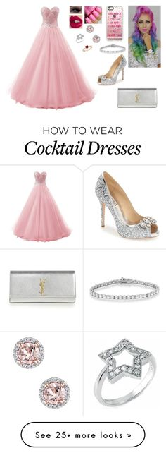 """""""Right There"""" by divinemaboundou on Polyvore featuring Badgley Mischka, Charlotte Tilbury, Casetify, Allurez, Fantasy Jewelry Box and Yves Saint Laurent"""