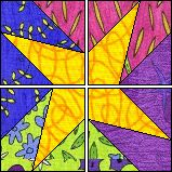 """""""Star Squares""""  Quilter's Cache."""