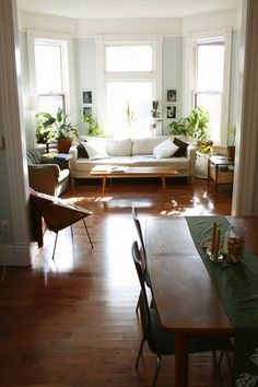 Beautiful living room |  White sofa