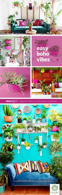 Wally Eco Hanging Wall planters make it easy to grow a garden in any space. Wally Eco planters are made from recycled milk jugs and are made in the USA. Garden Wall Planter, Living Wall Planter, Hanging Wall Planters, Vertical Garden Wall, Interior Decorating, Interior Design, Pink Walls, Wall Hangings, Houseplants