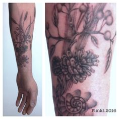 #Tattoosolution #Tattoo #Naturetattoo #blackngrey By Francine Launspach @ Tattoosolution