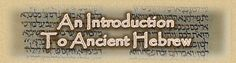 An Introduction to Ancient Hebrew