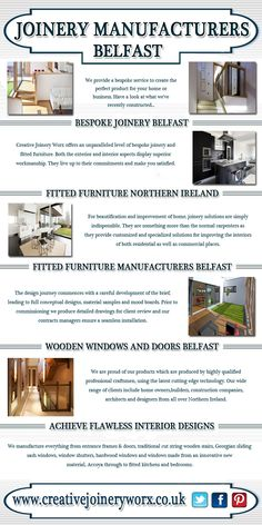 Visit this site http://www.creativejoineryworx.co.uk for more information on Joinery Manufacturers Belfast.