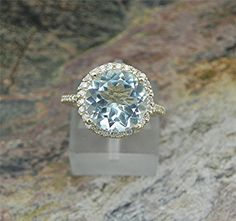 AAA Natural Untreated 10mm Round  Aquamarine by mastergoldcraft,