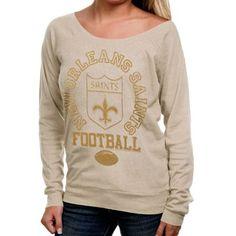 Junk Food New Orleans Saints Womens Off Shoulder T-Shirt - Natural