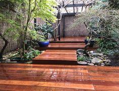 Ipe Decking, Hardwood Decking, Small Backyard Ponds, Timber Companies, Cedar Cladding, Cool Deck, Patio, Outdoor Decor, Wood Design