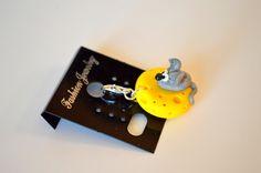 www.ivankaslittletreasures.com $9.99 #ivankaslittletreasures #Handmade #Polymerclay #Pendant #Jewelry #Cheese #Mouse