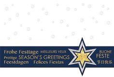 #Weihnachtskarte Weißer Karton mit Perlmuttfolienprägung #Seasons Greetings, inkl. Kuvert.