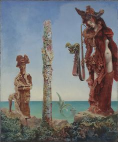 """Max Ernst. Napoleon in the Wilderness. 1941. Oil on canvas. 18 1/4 x 15"""" (46.3 x 38.1 cm). Purchase and exchange. 12.1942. © 2016 Artists Rights Society (ARS), New York / ADAGP, Paris. Painting and Sculpture"""