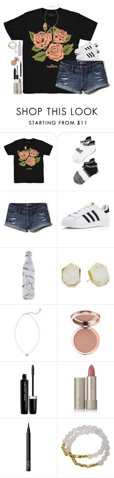 """Throwback to summa!"" by southernstruttin ❤ liked on Polyvore featuring Stay Home Club, Victoria's Secret, Hollister Co., adidas, S'well, Kendra Scott, Marc Jacobs, Ilia, NARS Cosmetics and Electric Picks"