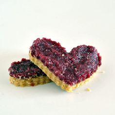pomegranate cranberry hearts  GLUTEN FREE, VEGAN