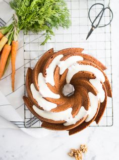 Serve this gorgeous carrot bundt cake at your next afternoon tea or dinner party.