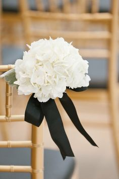 wedding aisle decorations | ... wedding chairs. Black and white wedding decor ideas. #aisle #decor #