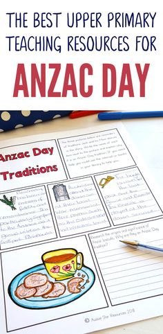 This great range of Anzac Day activities and printables have been designed especially for Australian and New Zealand upper primary students. The seven activities included in the pack are: Mini-Unit Title Page Anzac Day Australia, Australia For Kids, Teaching History, Teaching Resources, Teaching Ideas, Interactive Activities, Writing Activities, National Curriculum, Reading Comprehension Passages
