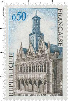 Timbre : HÔTEL DE VILLE DE SAINT-QUENTIN | 1967
