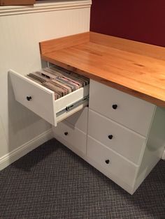 Custom drawer unit for 45rpm record storage. Holds 3,000 45's