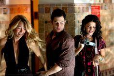 1x12 School Lies - Serena van der Woodsen, Dan Humphrey & Vanessa Abrams.