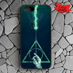 Three Hallows iPhone SE Black Case