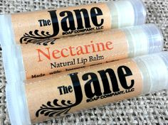 Nectarine Lip Balm  All Natural Lip Balm  Beeswax and by TheJaneCo