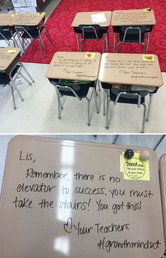 Teacher Surprised Her Students With Personalised Motivating Messages On Their Desks Before An Exam