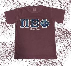 Family shirts are so fun! Pick a design and customize with embroidery. This Comfort Colors Tee features our Blue Marble fabric. You'll love the way we sew! Marble Fabric, Greek Letter Shirts, Fraternity Shirts, Greek Clothing, Comfort Colors, Dye T Shirt, Family Shirts, Lettering, Embroidery