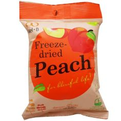 Freeze Dried Peach Healthy Fruit Snack Net Wt 14g 049 Oz Welb Brand X 5 Bags -- Find out more about the great product at the image link. (Note:Amazon affiliate link) #HealthySnacks