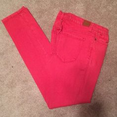 Cigarette Mid Rise jeans Coral/red jeans 24x30 BDG Jeans