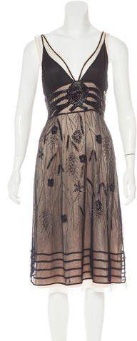 Galliano Silk Embellished Dress