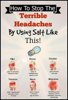 How To Stop The Terrible Headaches By Using Salt Like This!
